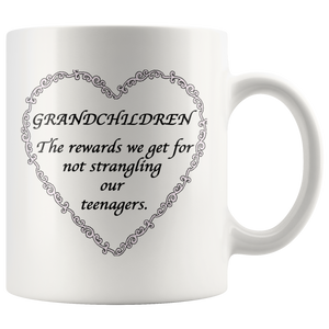 Grandchildren Are The Rewards White Accent Mug