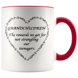 Grandchildren are the rewards Accent Mug