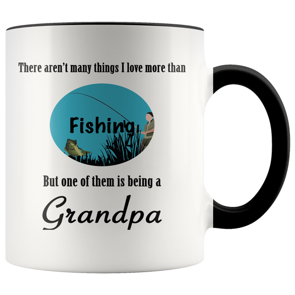 Aren't Many Things I Love More Than Fishing Accent Mug - Whatchamadoodles