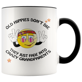 Old Hippies Don't Die Accent Mug