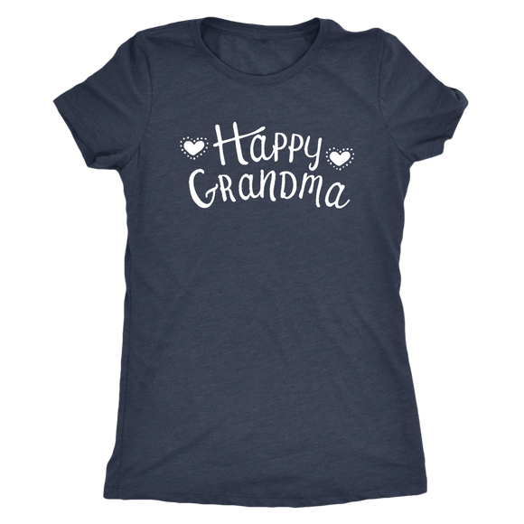 Happy Grandma Next Level Womens Triblend Tee