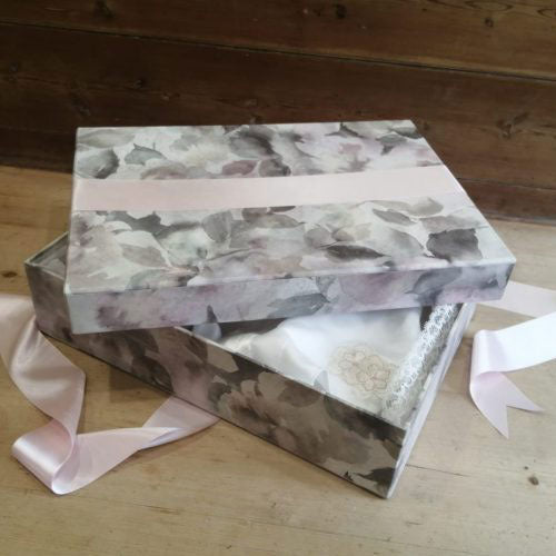 Monet Pink Wedding Dress Storage Box - Standard