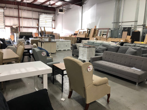 showroom of remys furniture warehouse