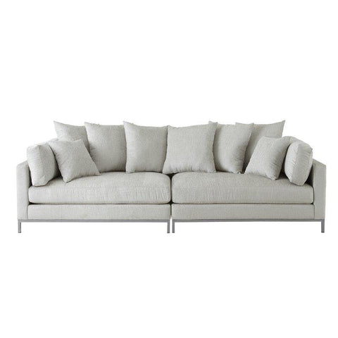 "Veda 118"" Wide Square Arm Sofa - Remy's Furniture Warehouse"