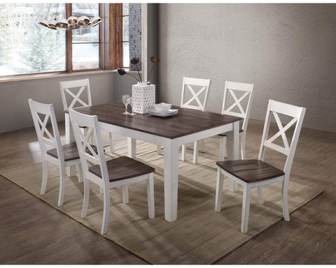 White Farmhouse Style Dining Room Set - Remy's Furniture Warehouse