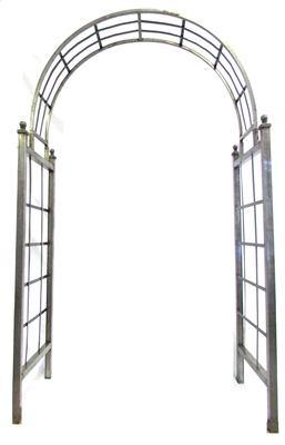 White Wrought Iron Cheshunt Arbor - Remy's Furniture Warehouse