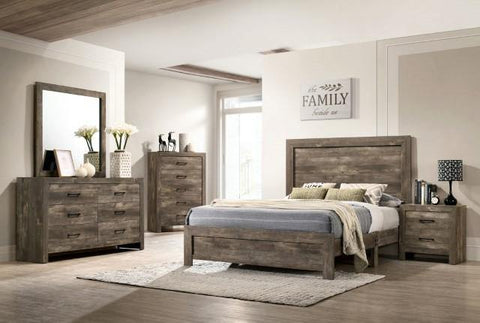 Queen Rustic Farmhouse Style Bedroom Set - Remy's Furniture Warehouse