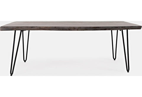 Live Edge Brushed Grey Coffee Table - Remy's Furniture Warehouse