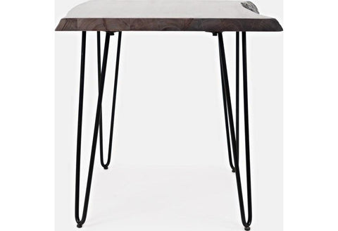 Live Edge Brushed Grey Side Table - Remy's Furniture Warehouse