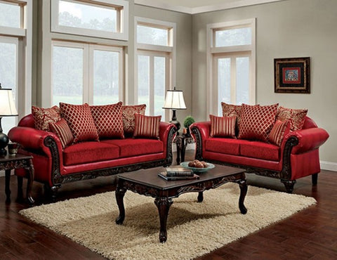 Marcus Red 2pc Living Room Set