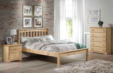 full size natural mission bed