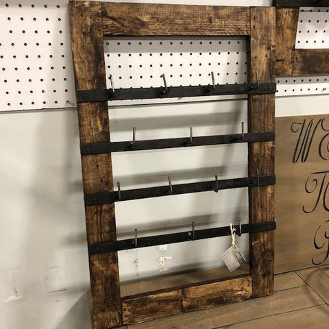 Rustic Wood Farmhouse Cupholder - Remy's Furniture Warehouse