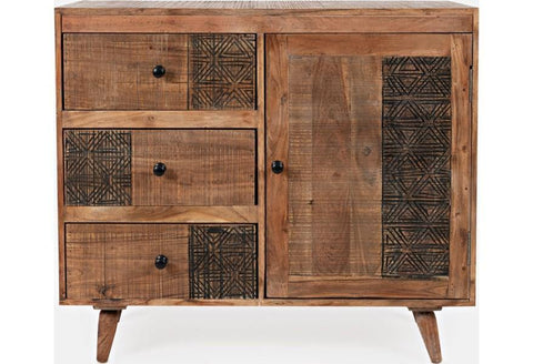 Contemporary Style 1 Door Accent Chest - Remy's Furniture Warehouse