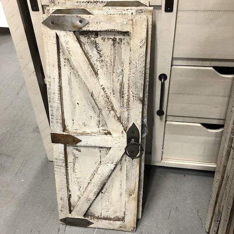 Distressed White Wooden Door - Pair - Remy's Furniture Warehouse