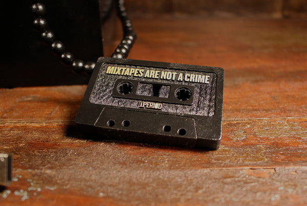 "J.PERIOD x ""MIXTAPES ARE NOT A CRIME"" WOOD PENDANT"