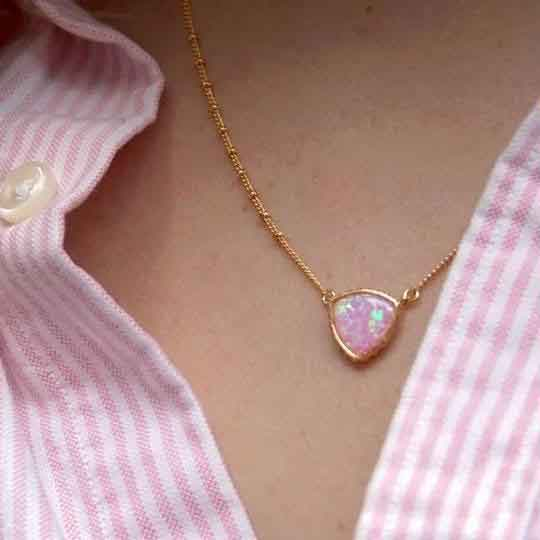Opal Precious Metal Necklaces