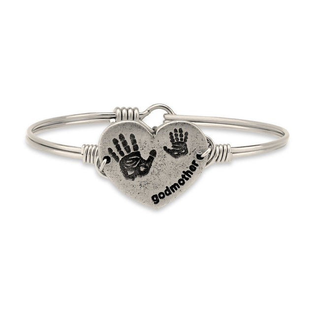 Godmother Bangle Bracelet-Bangle Bracelet-Regular-finish:Silver Tone-Luca + Danni