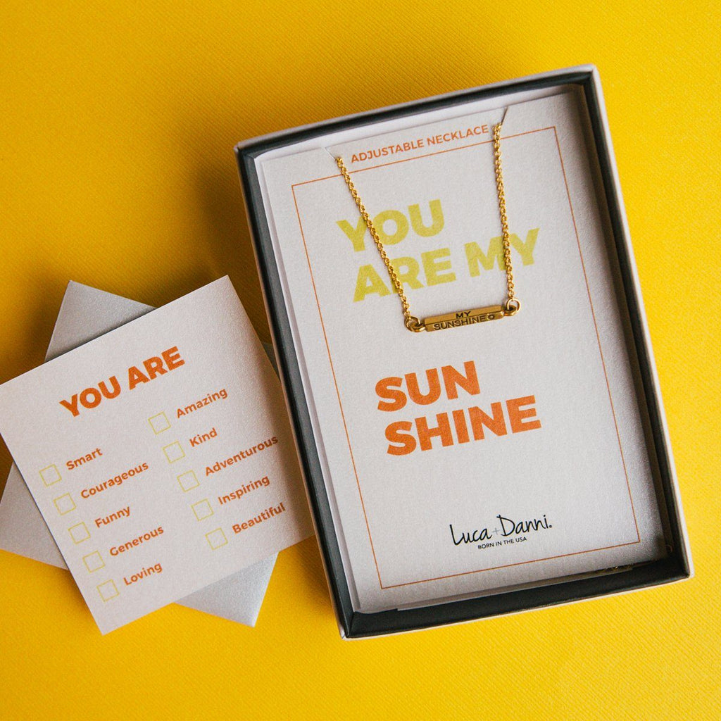 You Are My Sunshine Slider Bracelet-Slider Bracelet-finish:-Luca + Danni