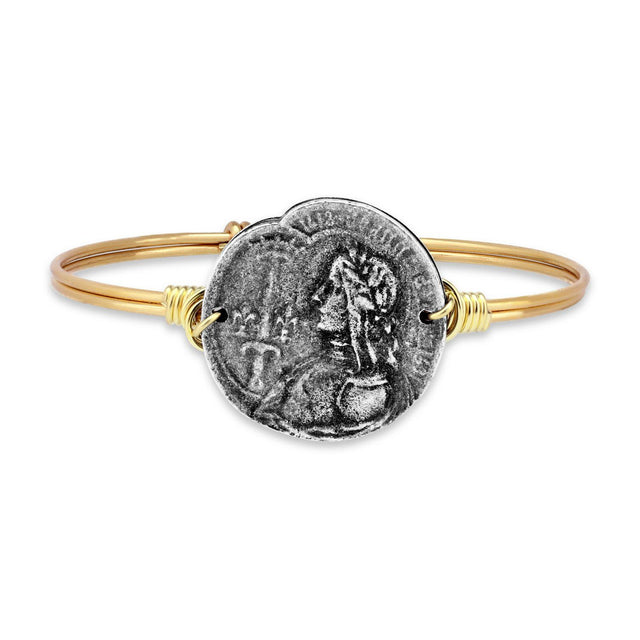 Joan of Arc Bangle Bracelet-Bangle Bracelet-Regular-finish:Brass Tone-Luca + Danni
