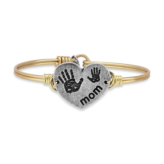 Mom Bangle Bracelet-Bangle Bracelet-Regular-finish:Brass Tone-Luca + Danni