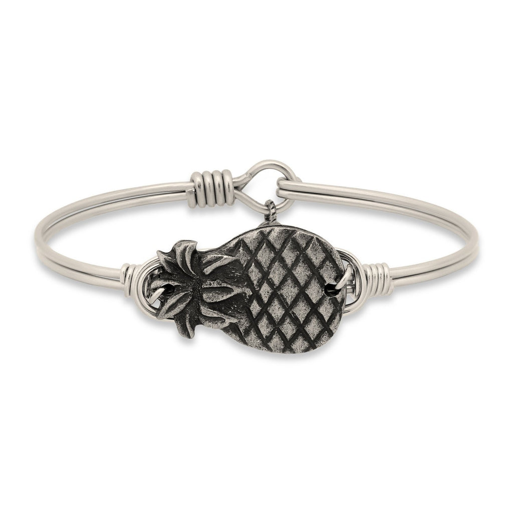 Pineapple Bangle Bracelet choose finish:Silver Tone