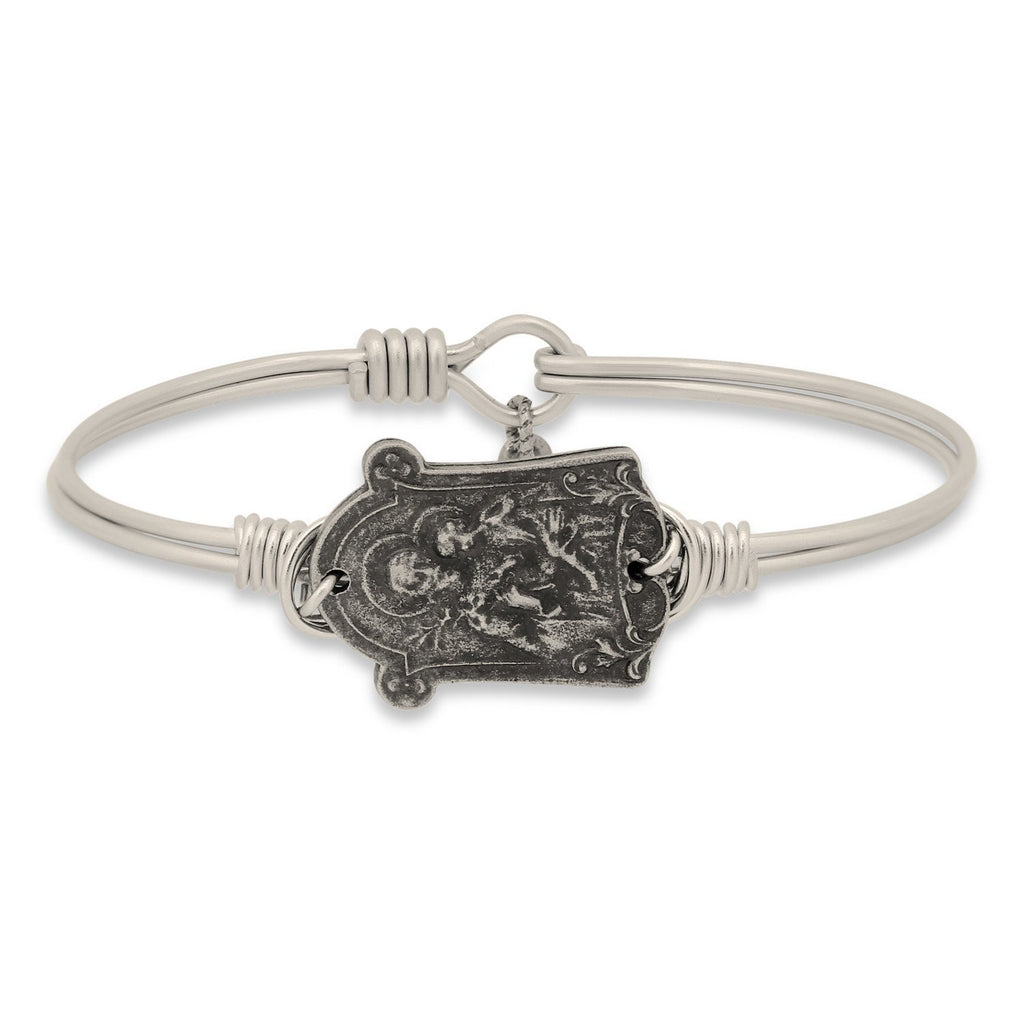 Saint Joseph Bangle Bracelet-Bangle Bracelet-Regular-finish:Silver Tone-Luca + Danni