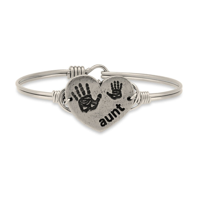 Aunt Bangle Bracelet-Bangle Bracelet-Regular-finish:Silver Tone-Luca + Danni