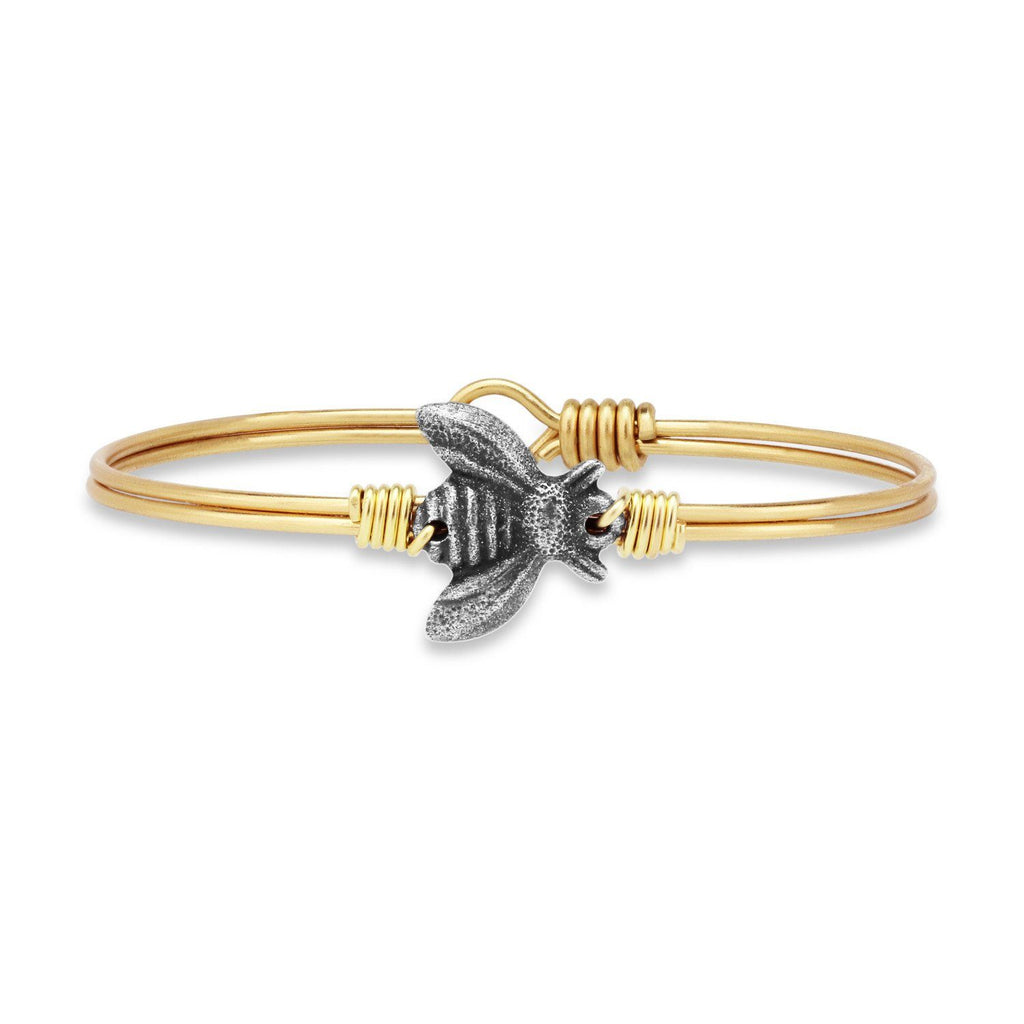 Bee Bangle Bracelet Bracelet-Bangle Bracelet-Regular-finish:Brass Tone-Luca + Danni