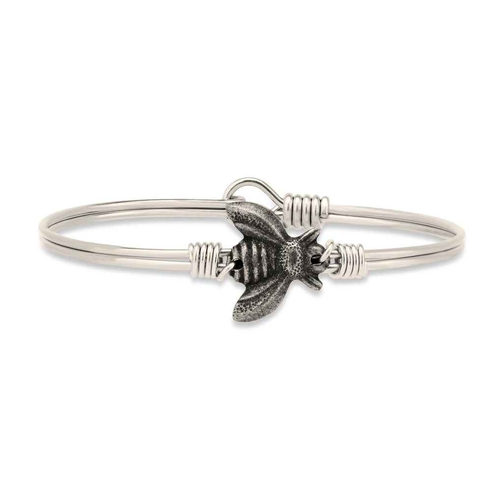 Bee Bangle Bracelet Bracelet-Bangle Bracelet-Regular-finish:Silver Tone-Luca + Danni