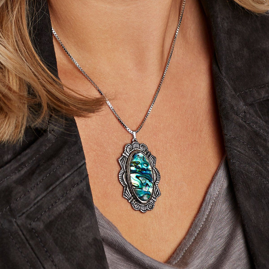 Abalone Shell Statement Necklace