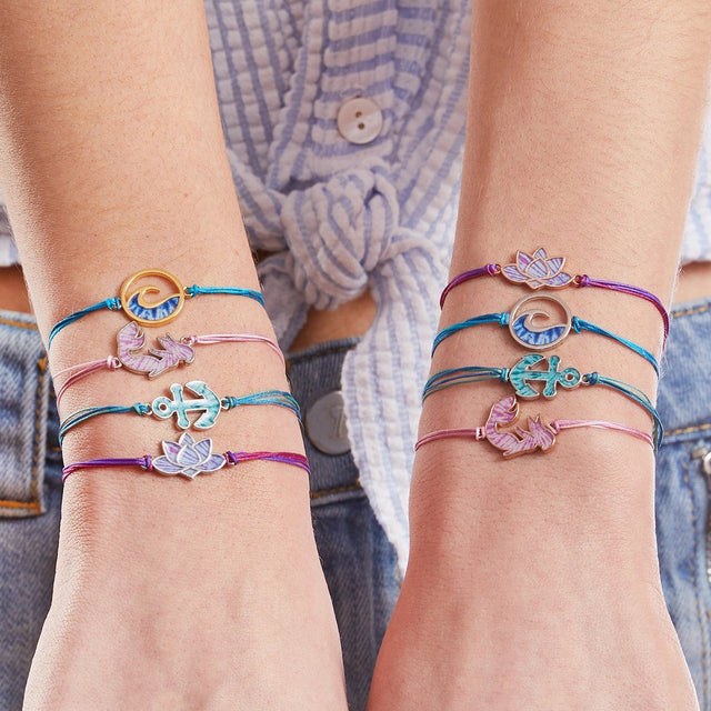 Anchor Adjustable Cord Bracelet