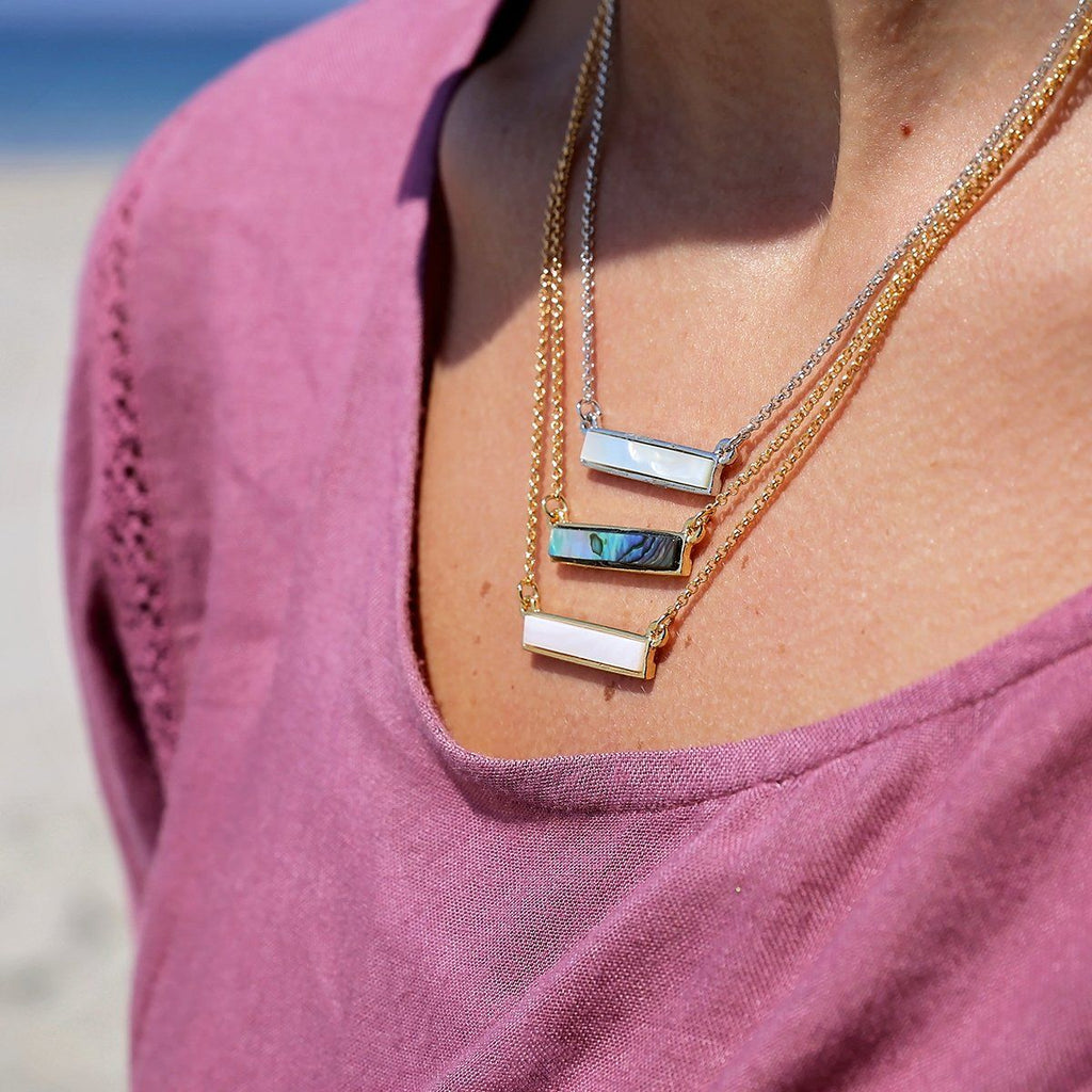 Hudson Necklace in Mother of Pearl-Necklace-finish:-Luca + Danni