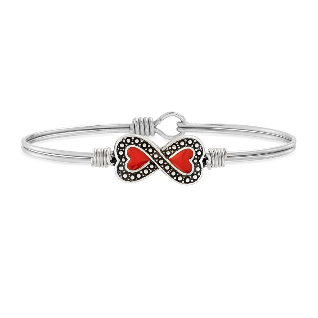 Have a Heart Bangle Bracelet choose finish:Silver Tone