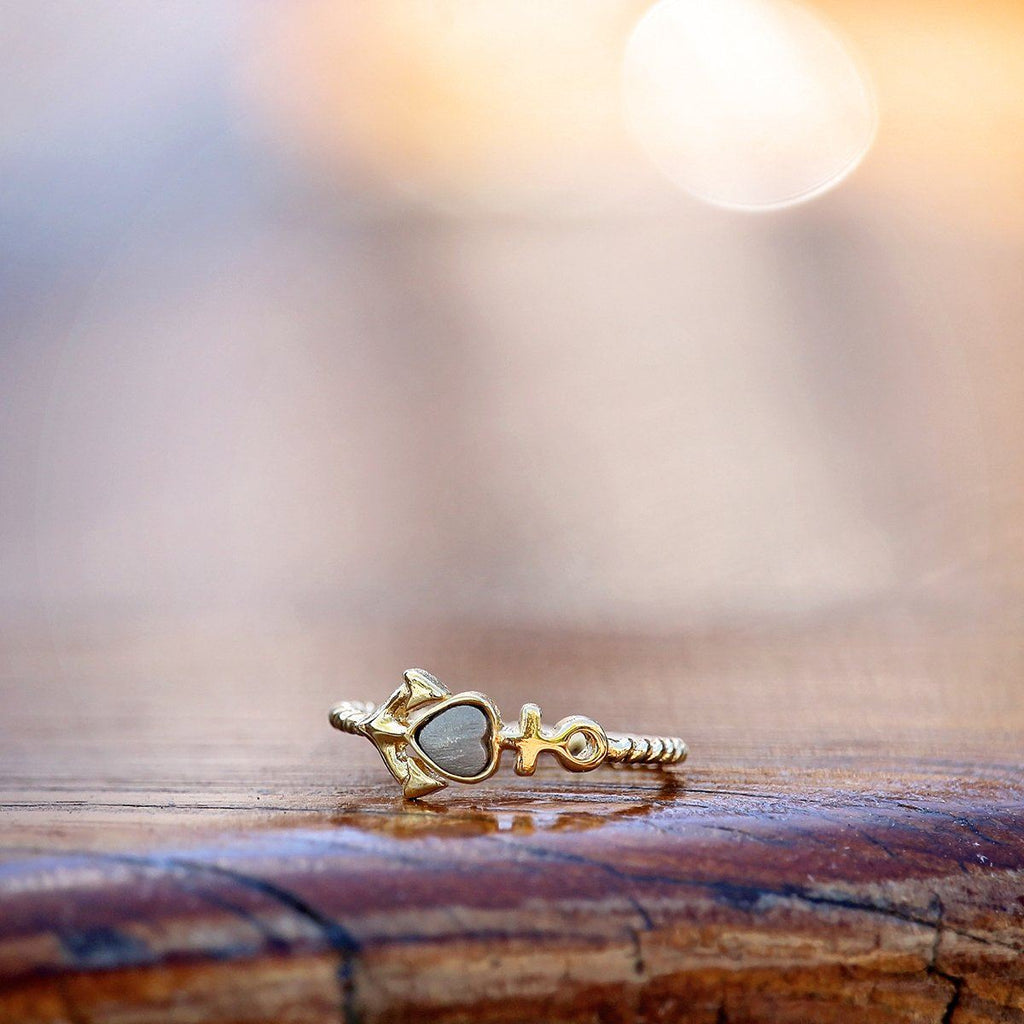 Anchor Ring-Rings-finish:18kt Gold Plated-Size 6-Luca + Danni