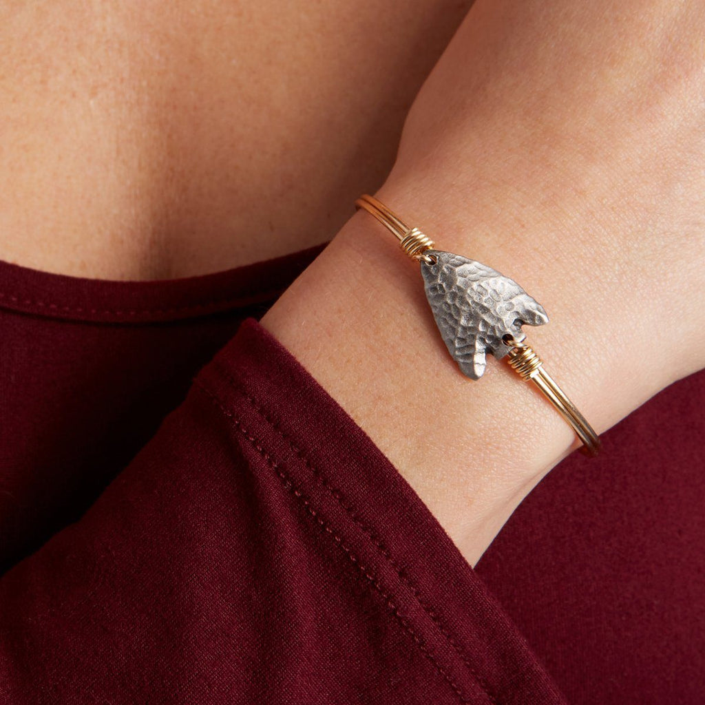 Arrowhead Bangle Bracelet