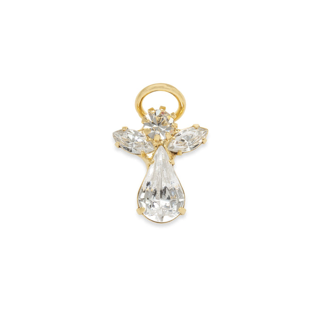 The Original Crystal Angel Pin finish:18k Gold Plated