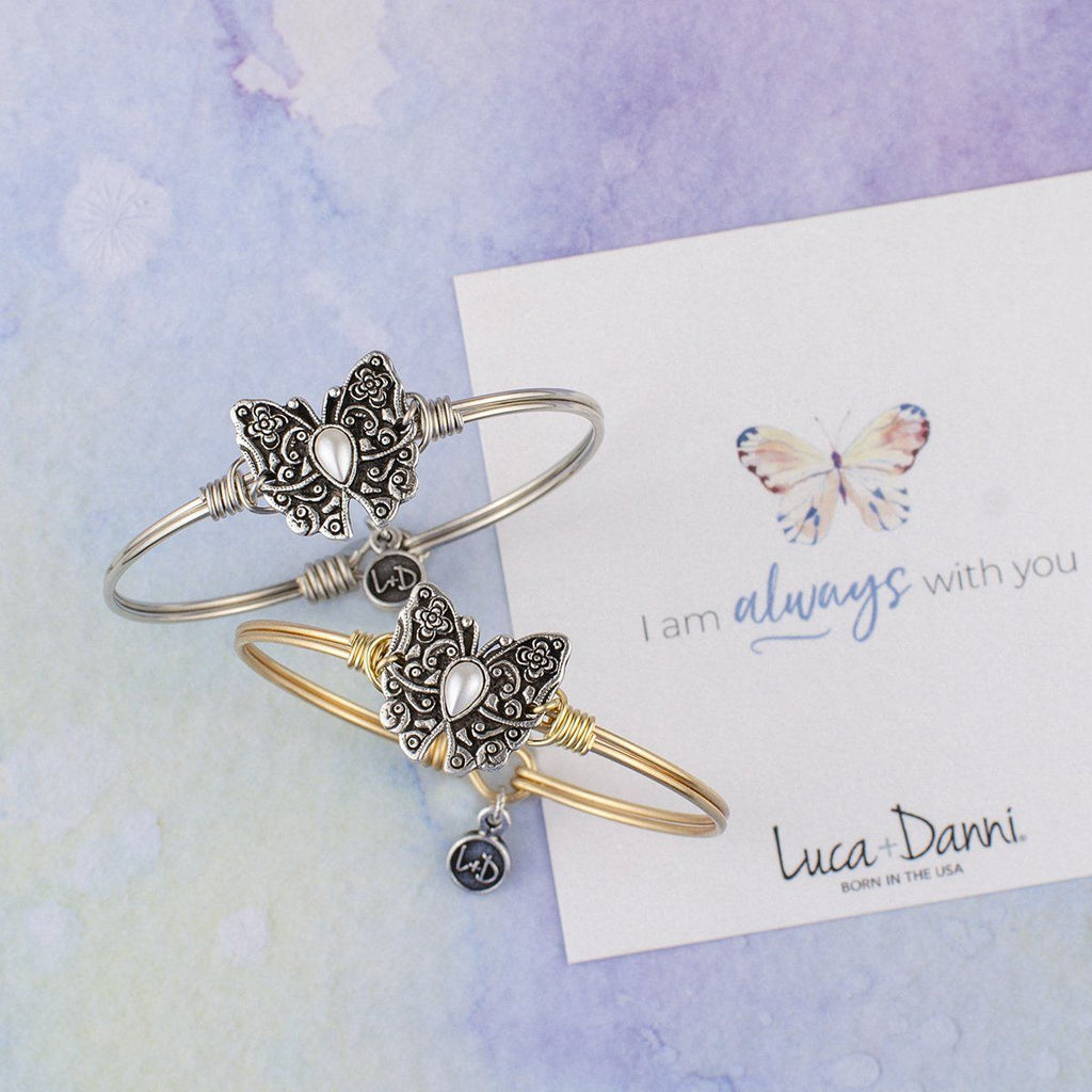 Butterfly Bangle Bracelet choose finish: