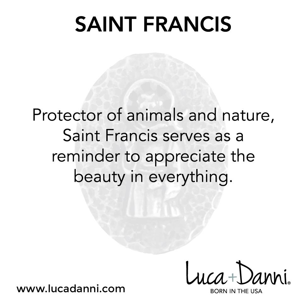 Saint Francis Bangle Bracelet-Bangle Bracelet-finish:-Luca + Danni