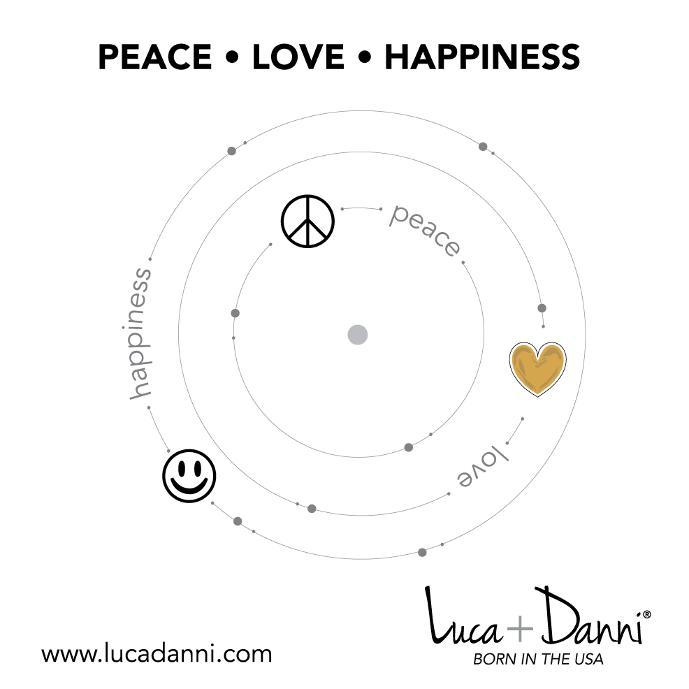 Trilogy Bangle Bracelet | Peace • Love • Happiness-Bangle Bracelet-finish:-Luca + Danni