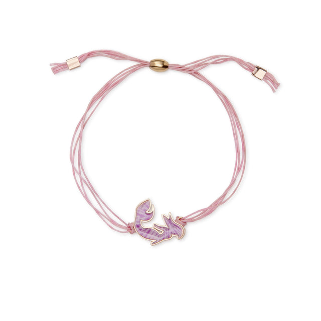 Mermaid Adjustable Cord Bracelet finish:Rose Gold Plated