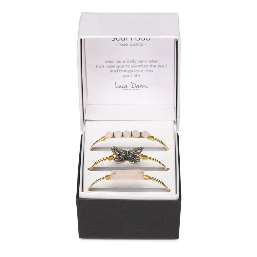 Butterfly Bangle Bracelet-Bangle Bracelet-finish:-Luca + Danni