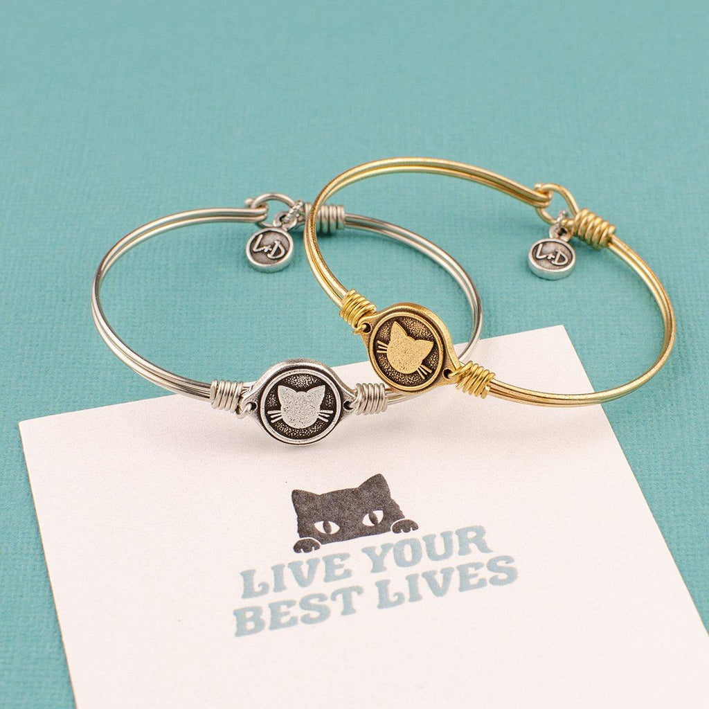 Meow Bangle Bracelet choose finish: