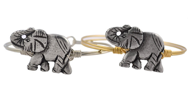 Lucky Elephant Bangle Bracelet