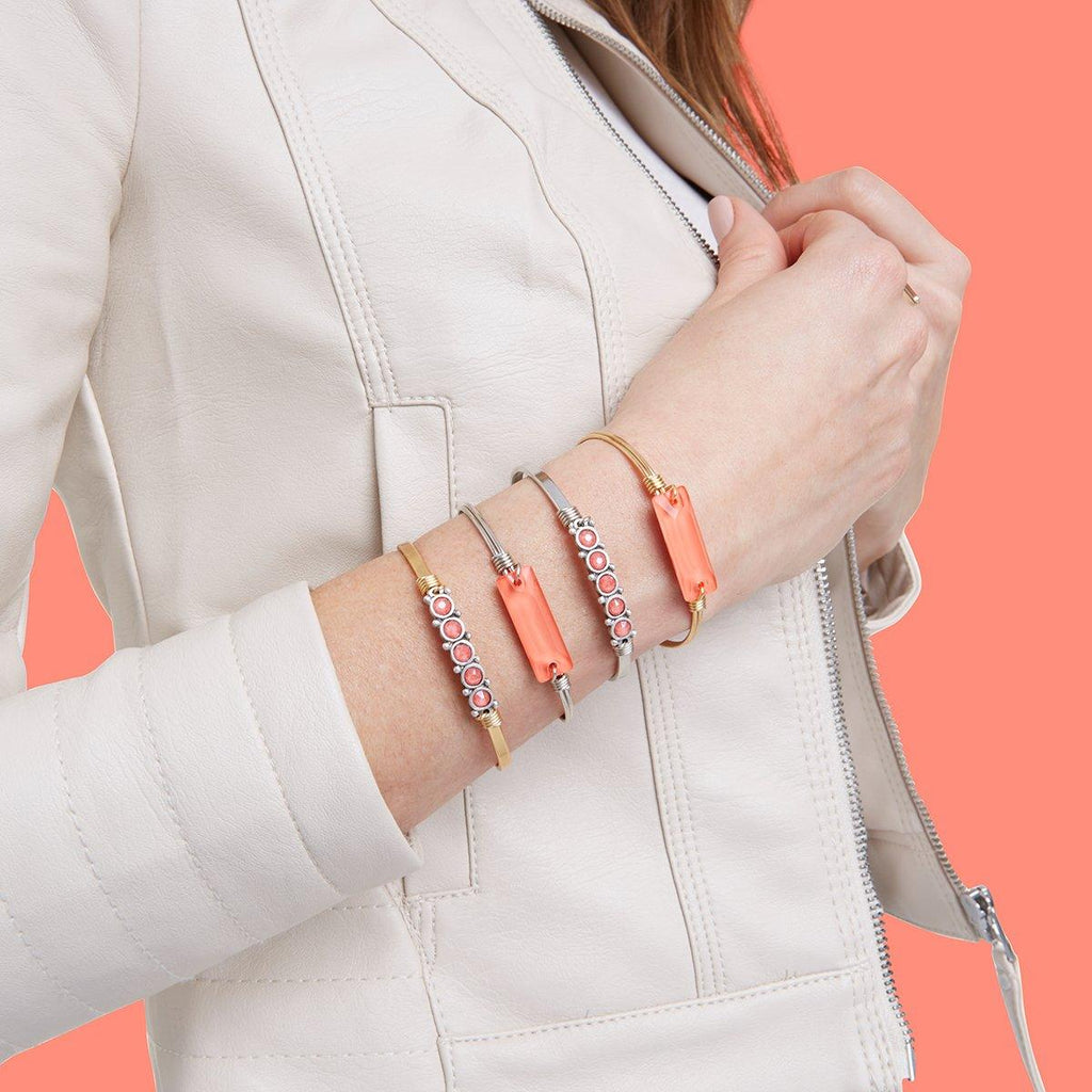 Crystal Cuff in Living Coral