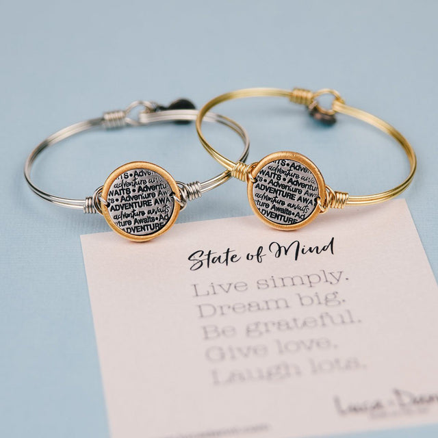 Adventure Awaits Bangle Bracelet-Bangle Bracelet-finish:-Luca + Danni