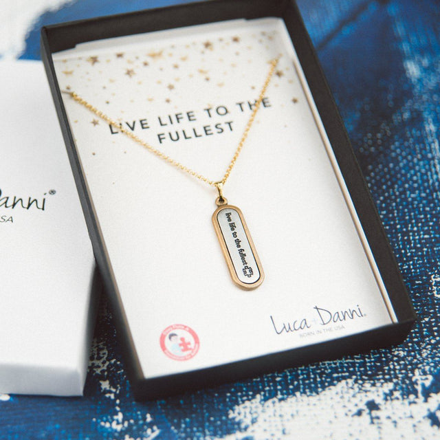 Live Life to the Fullest Necklace-Bangle Bracelet-finish:-Luca + Danni
