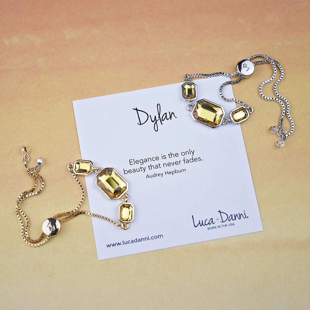 Dylan Slider Bracelet in Sunflower-Slider Bracelet-finish:-Luca + Danni