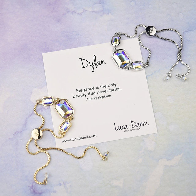 Dylan Slider Bracelet in Crystal AB-Slider Bracelet-finish:-Luca + Danni
