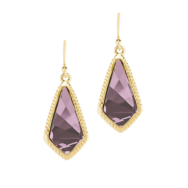 Sloane Statement Earrings In Antique Pink-Earrings-finish:18kt Gold Plated-Luca + Danni