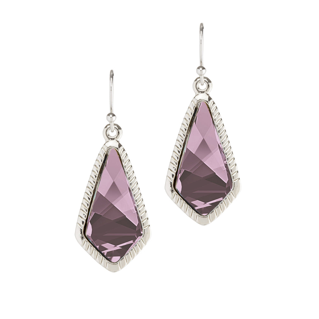 Sloane Statement Earrings In Antique Pink-Earrings-finish:Silver Plated-Luca + Danni